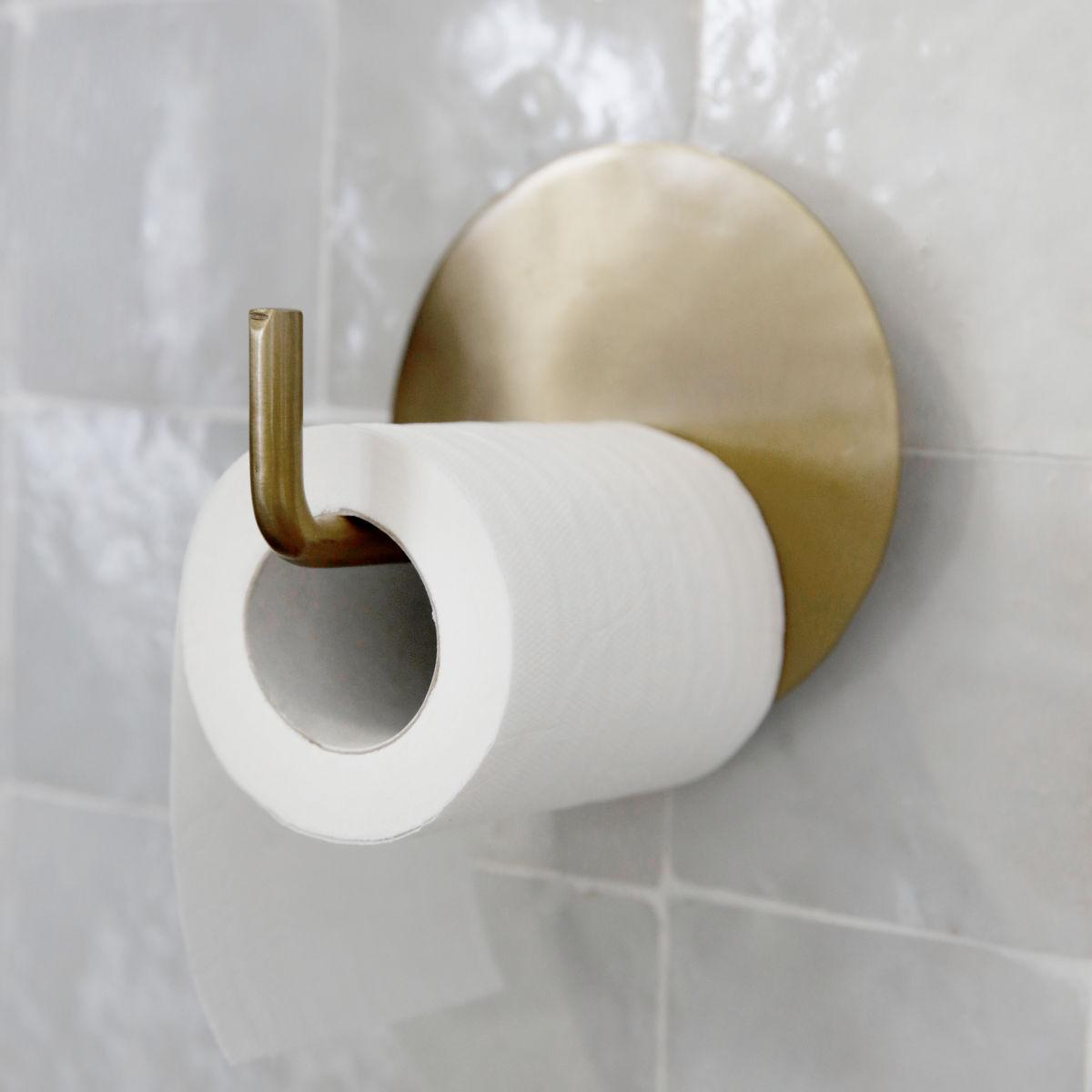 Sada 2 ks − Mosazný držák na toaletní papír Text