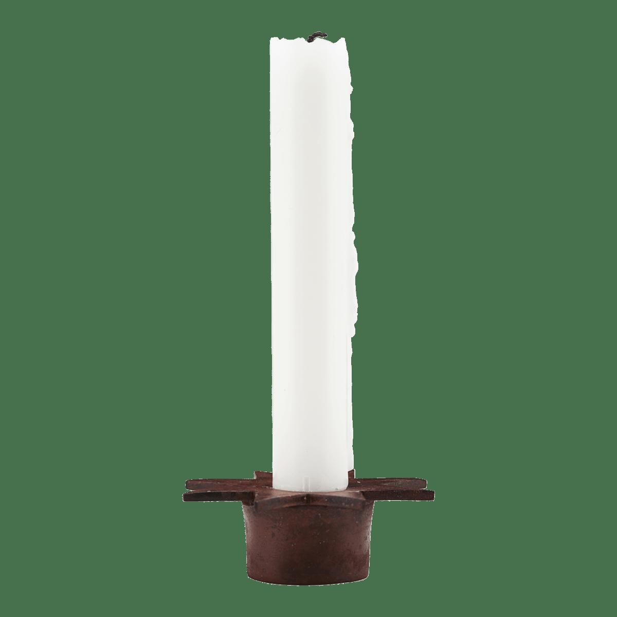 Tmavě červený stojan na svíčku Star