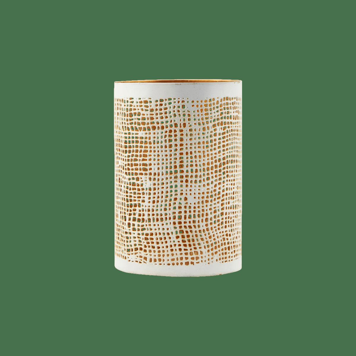 Bílozlaté stínítko na svíčku Hessian malé