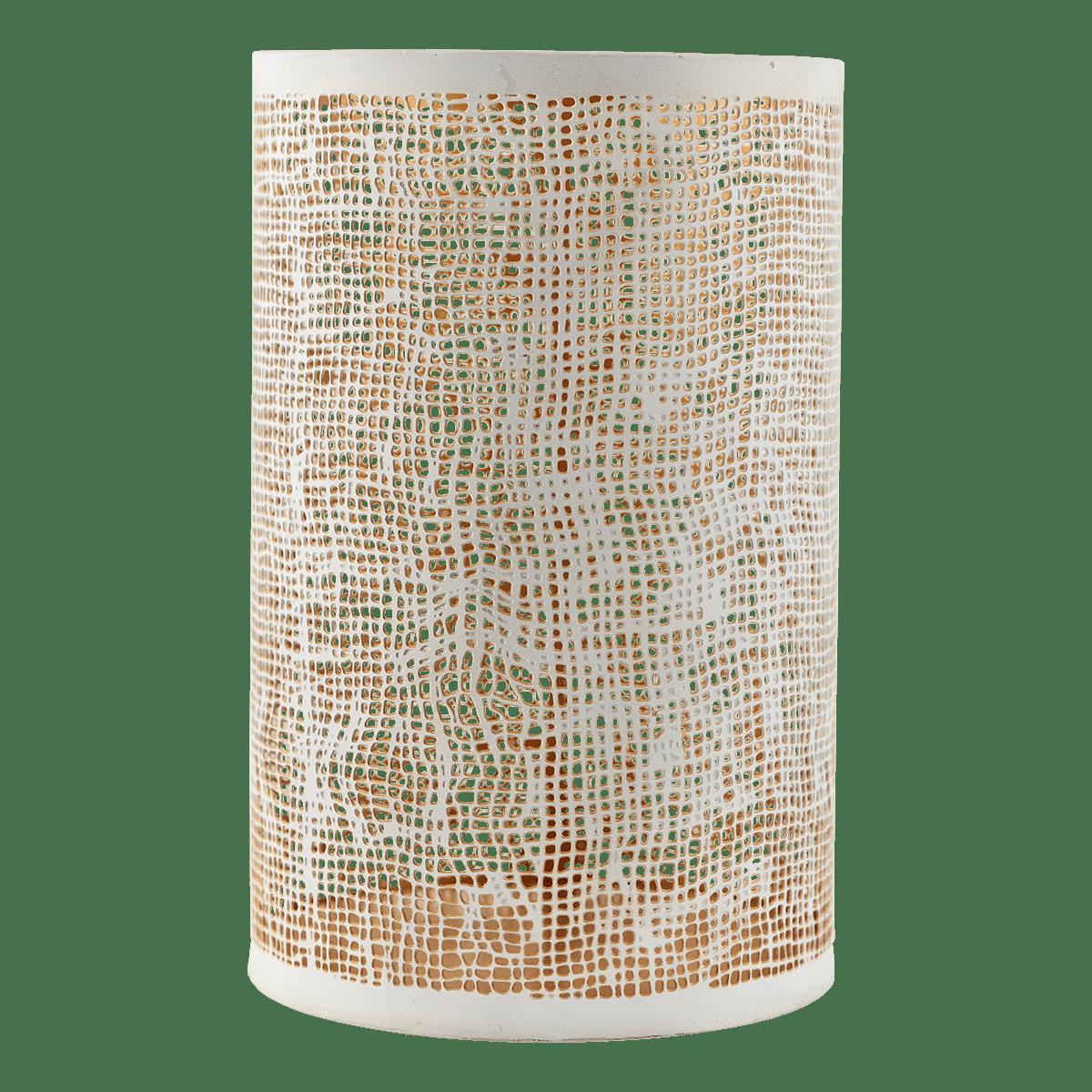 Bílozlaté stínítko na svíčku Hessian velké