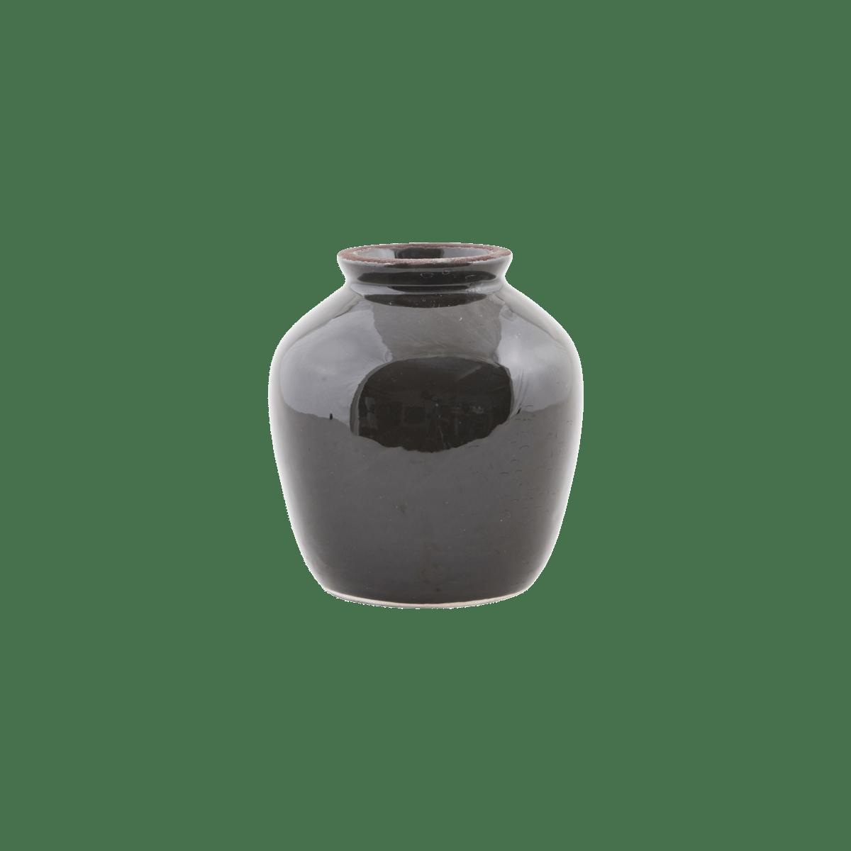 Sada 3 ks − Černá váza Shina malá