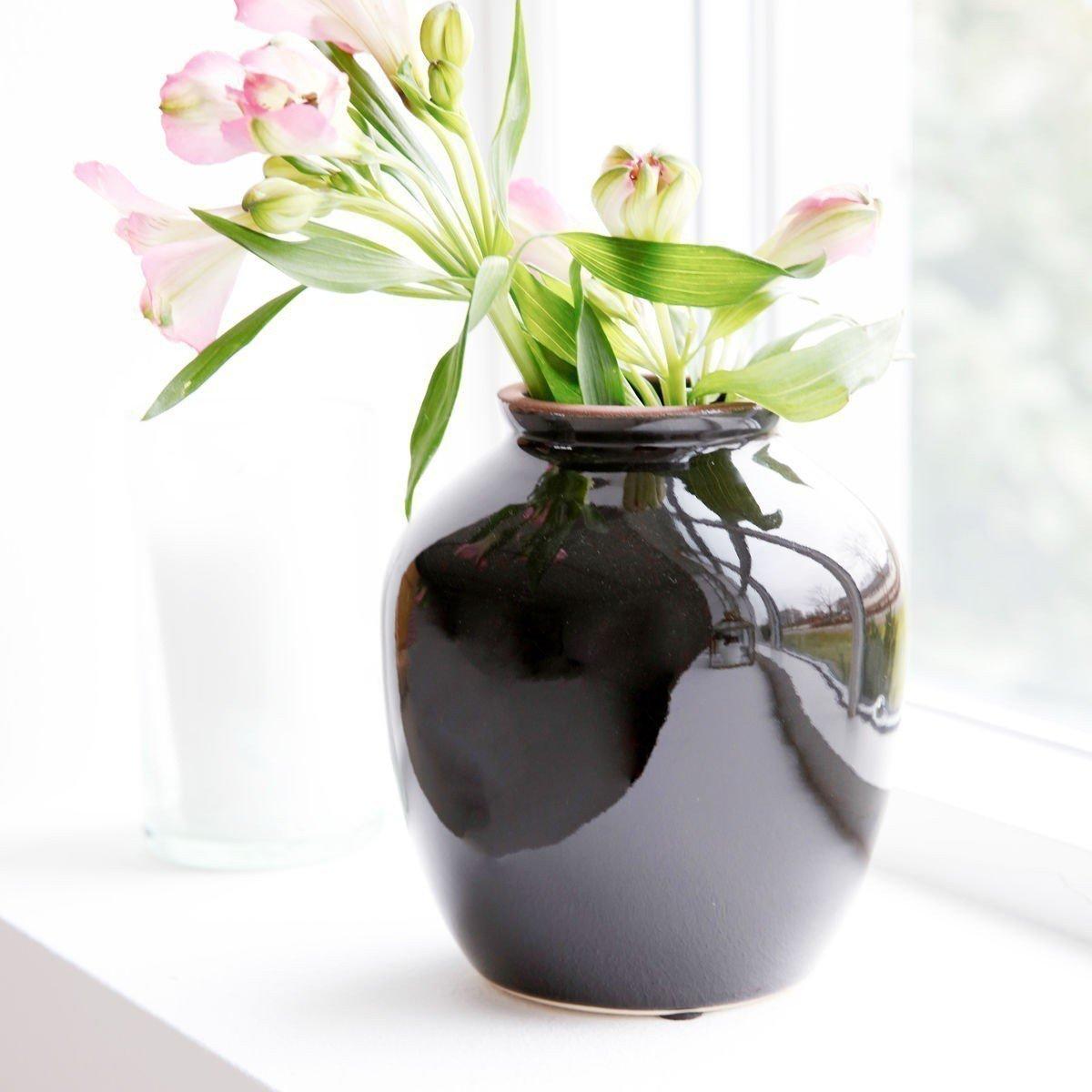 Sada 4 ks − Černá váza Shina střední