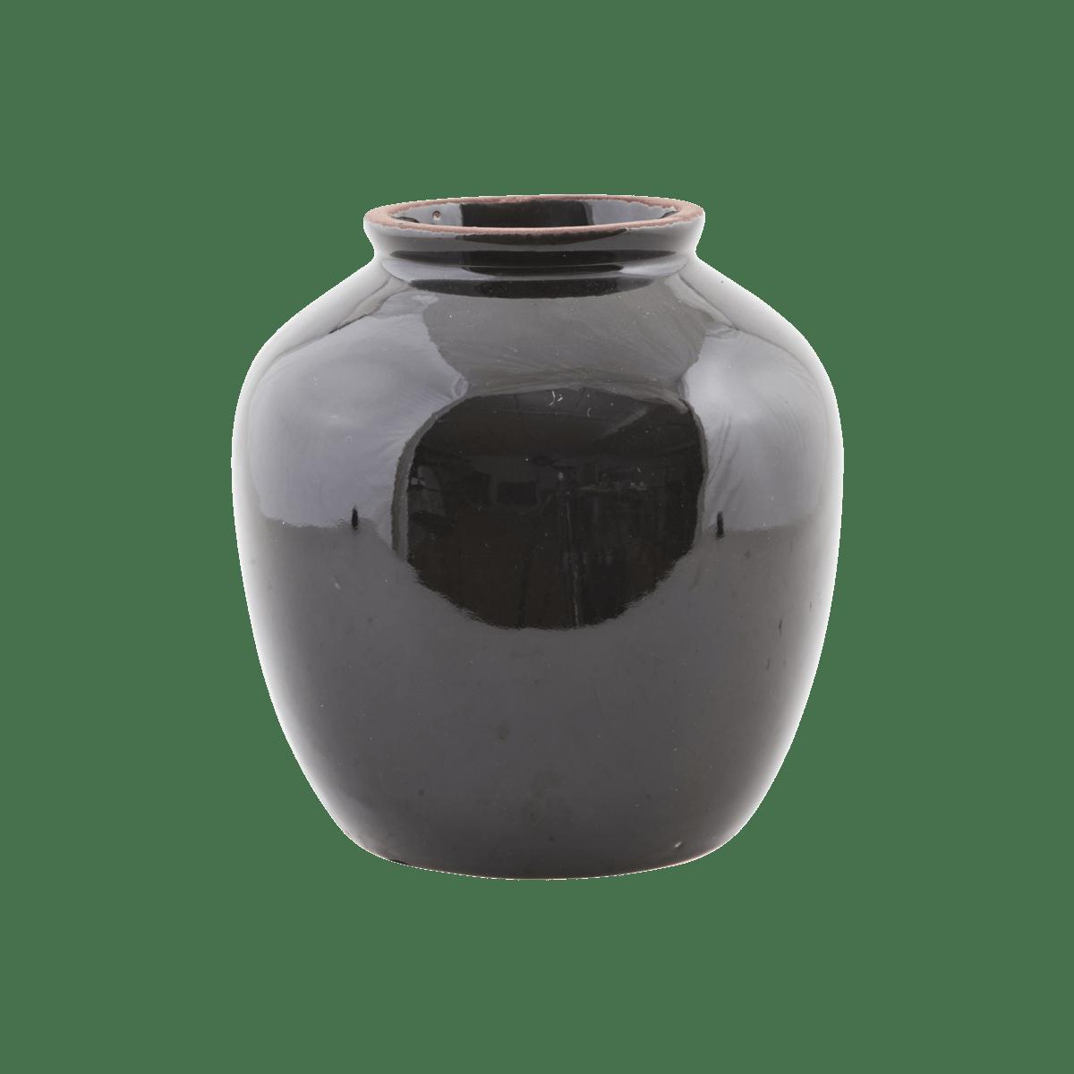 Sada 3 ks − Černá váza Shina velká