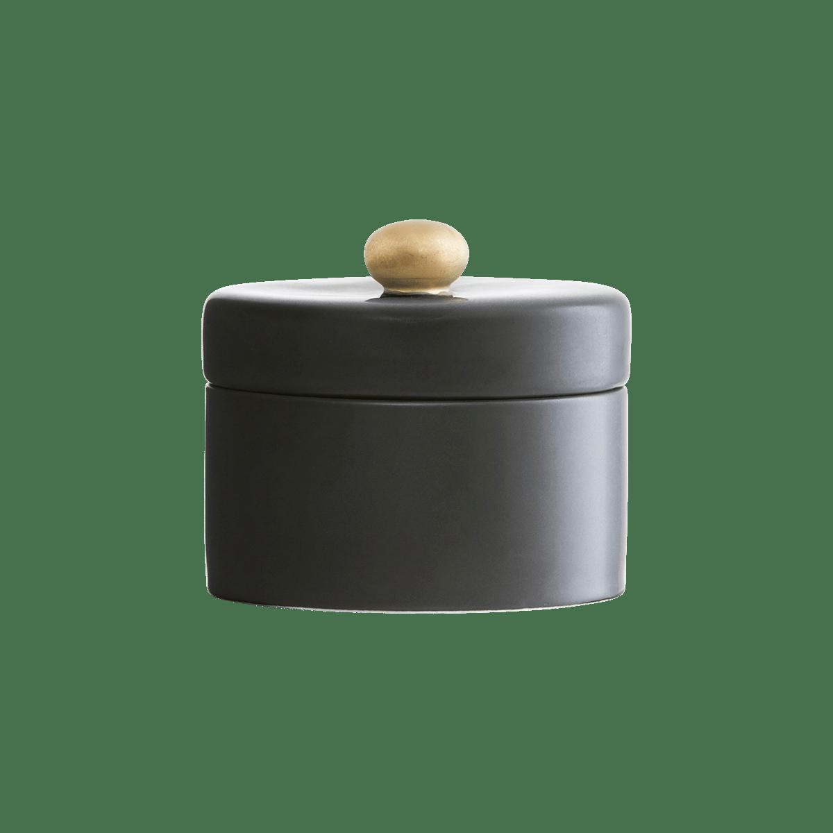 Sada 3 ks − Černá miska na cukr s víčkem Pot