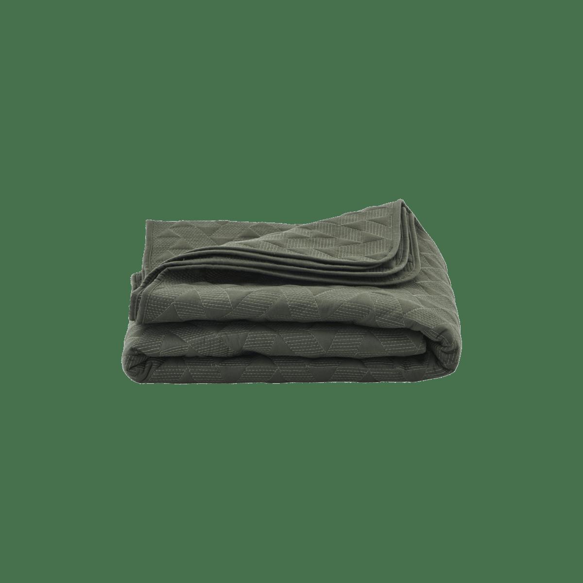 Tmavě zelený přehoz přes postel Leh malý