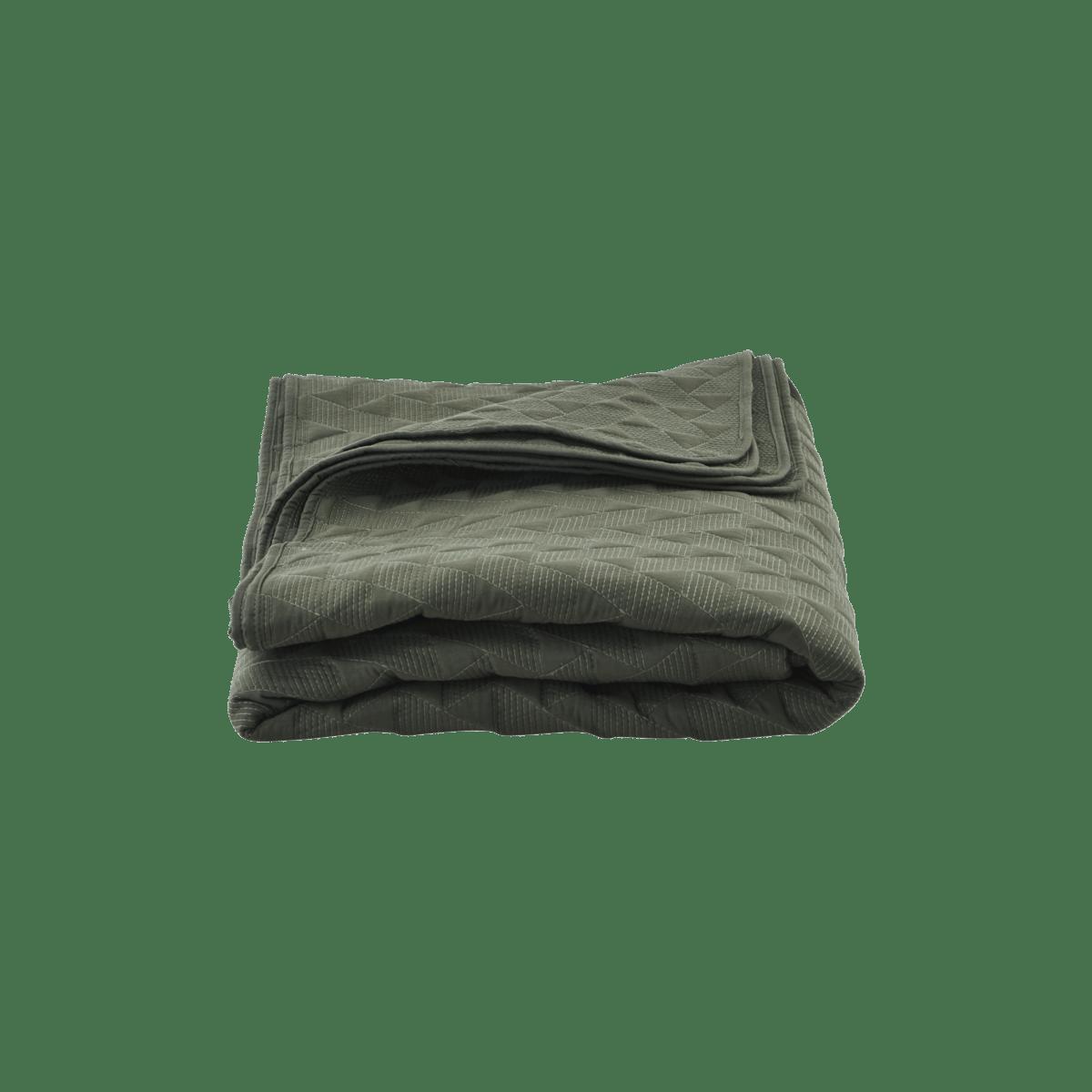 Tmavě zelený přehoz přes postel Leh velký
