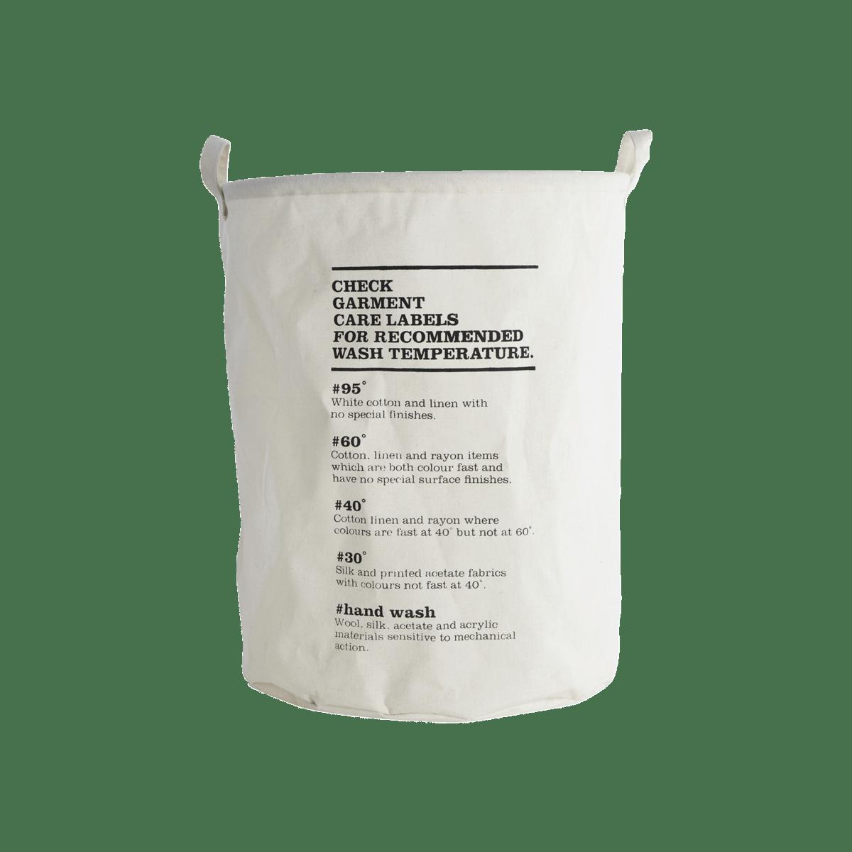 Bílý pytel na prádlo Wask Instructions