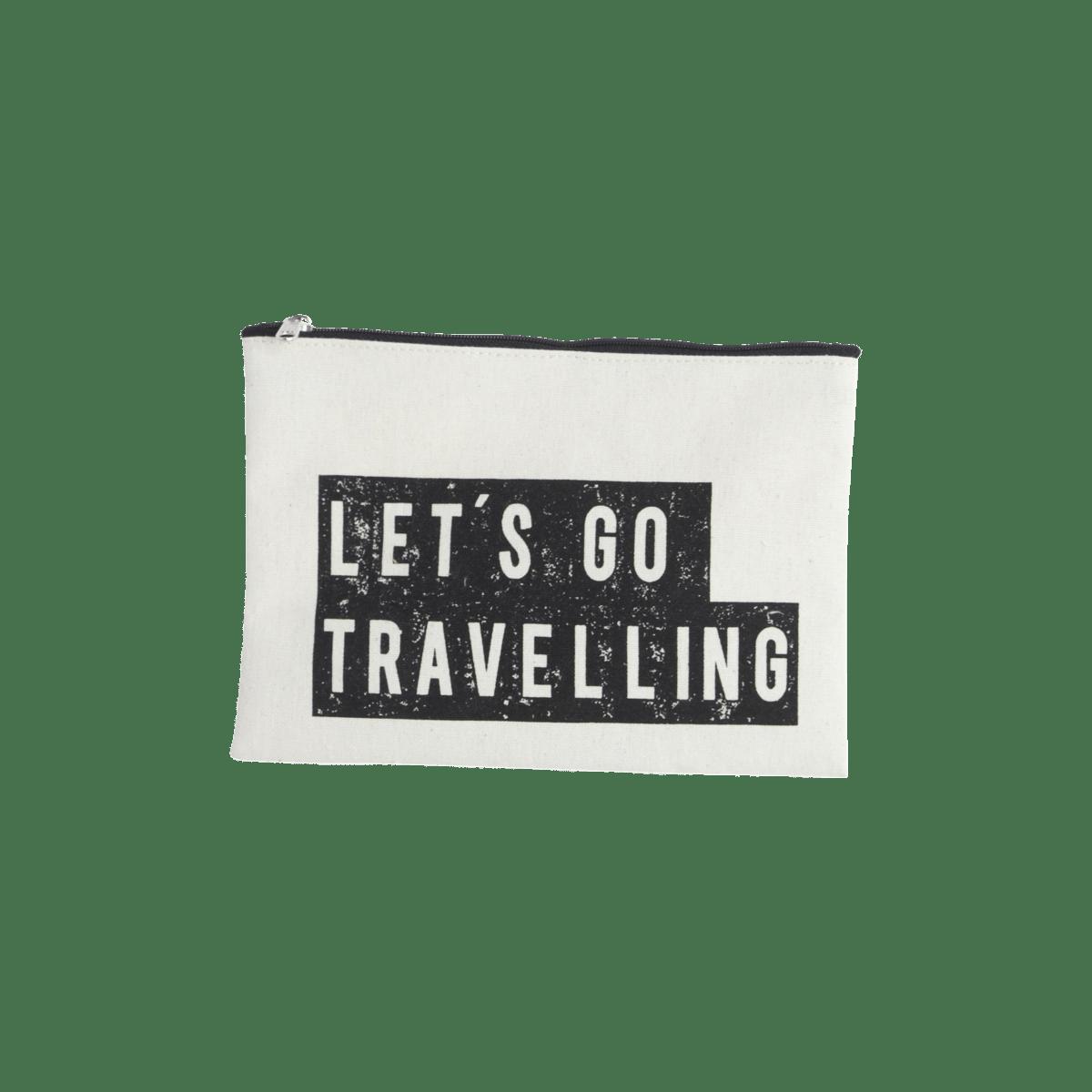 Bílá kosmetická taštička Travelling