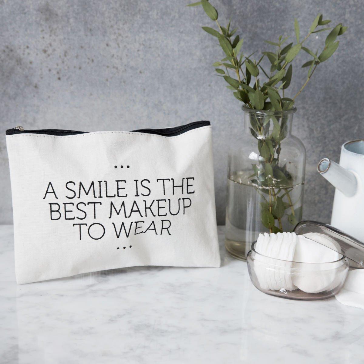 Bílá kosmetická taštička Smile