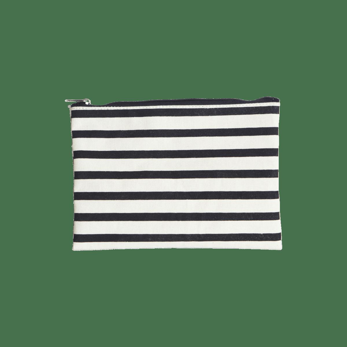 Černobílá kosmetická taštička Stripes