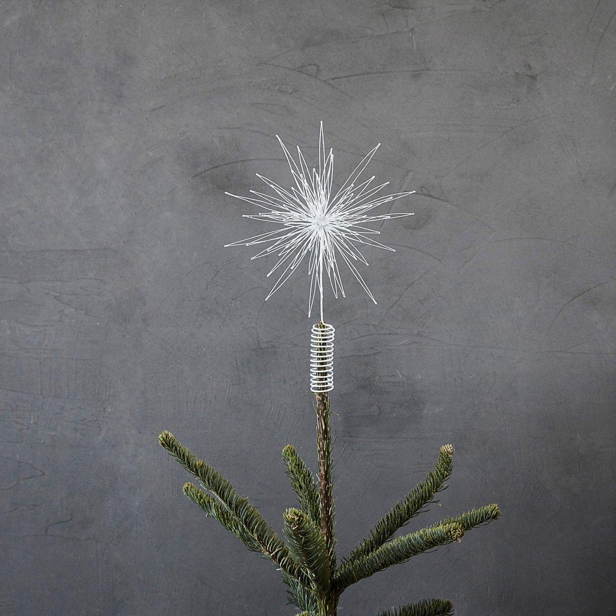 Dekorační hvězda na vrchol stromečku White