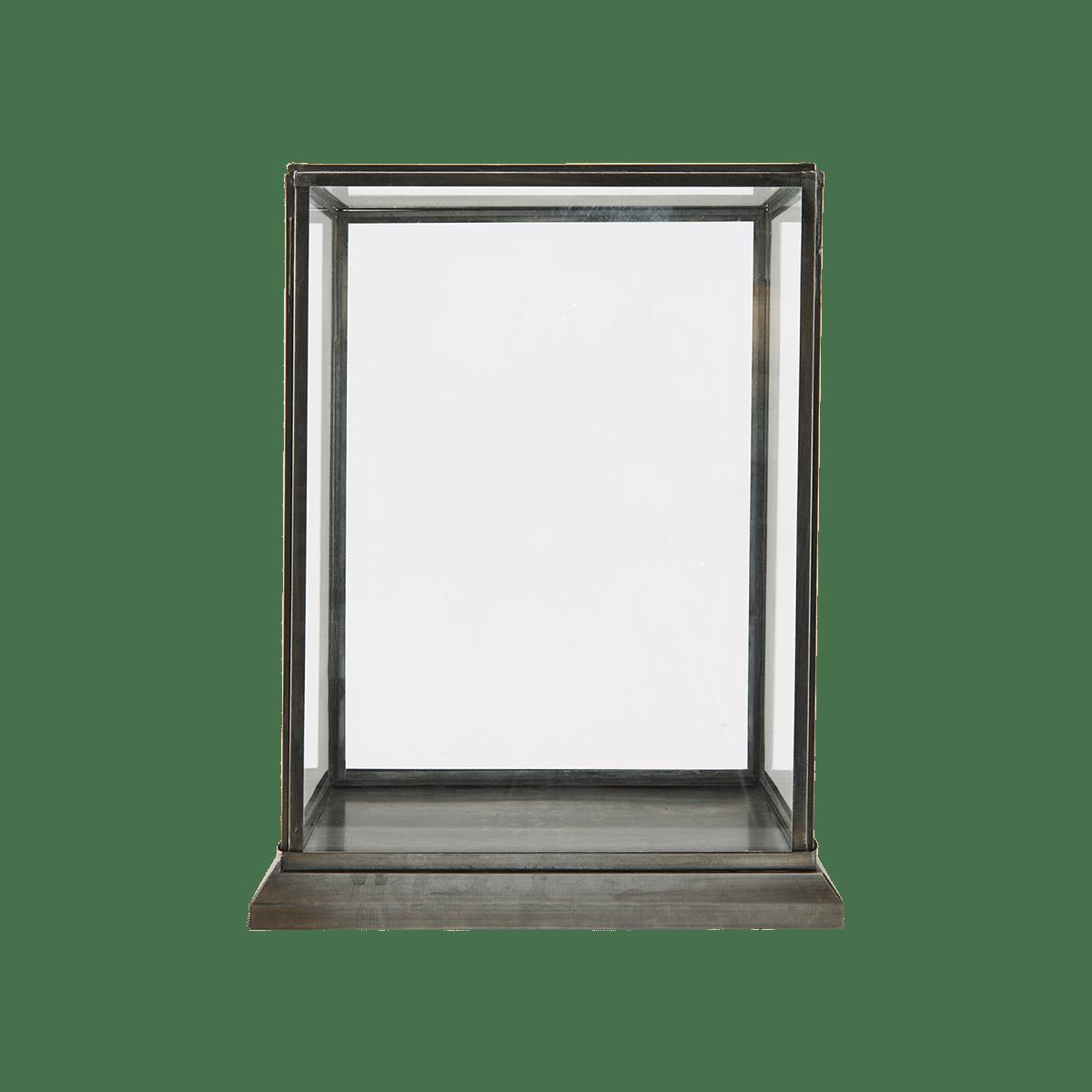 Skleněná vitrína 28x17 cm