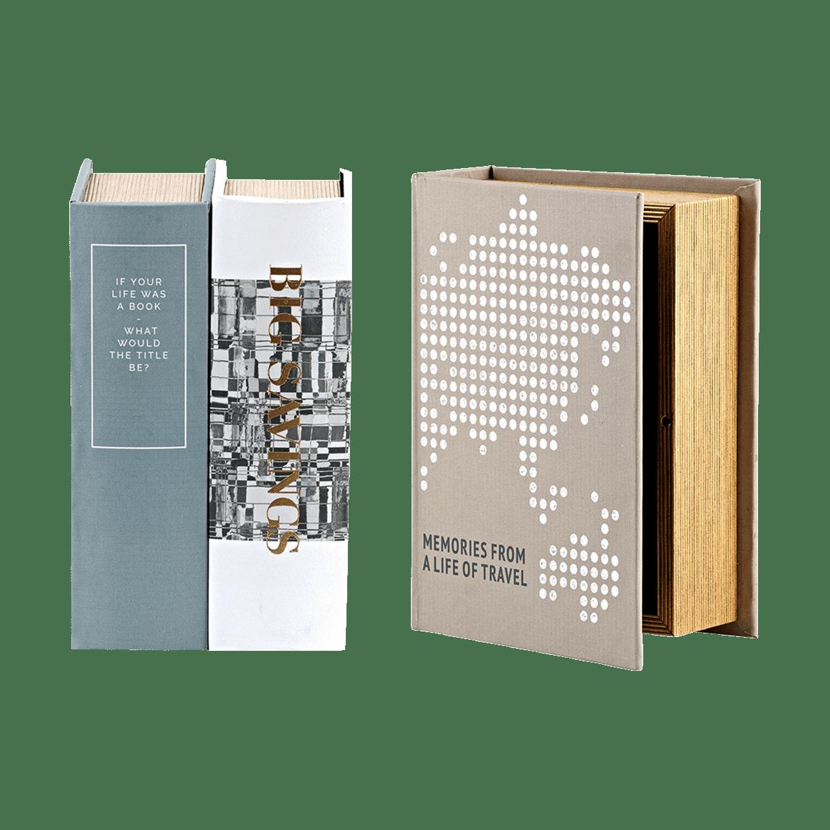 Úložná krabice ve tvaru knihy Treasures - set 3 druhů