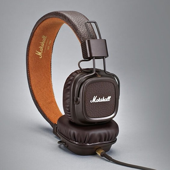 Luxusní sluchátka Major II bluetooth - hnědé