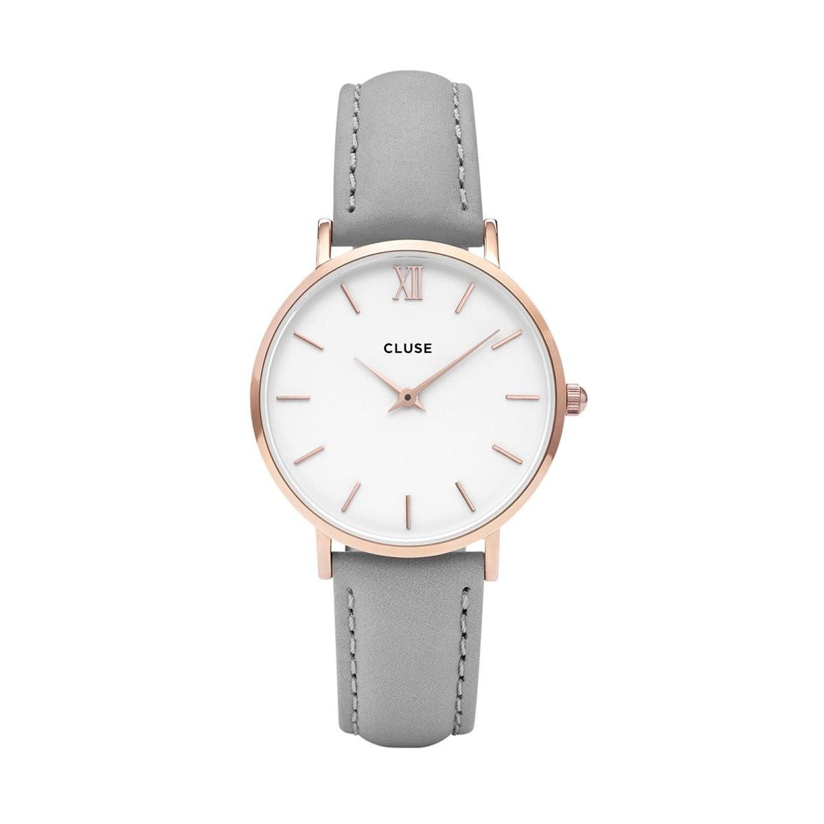 Šedé dámské hodinky Cluse - Minuit