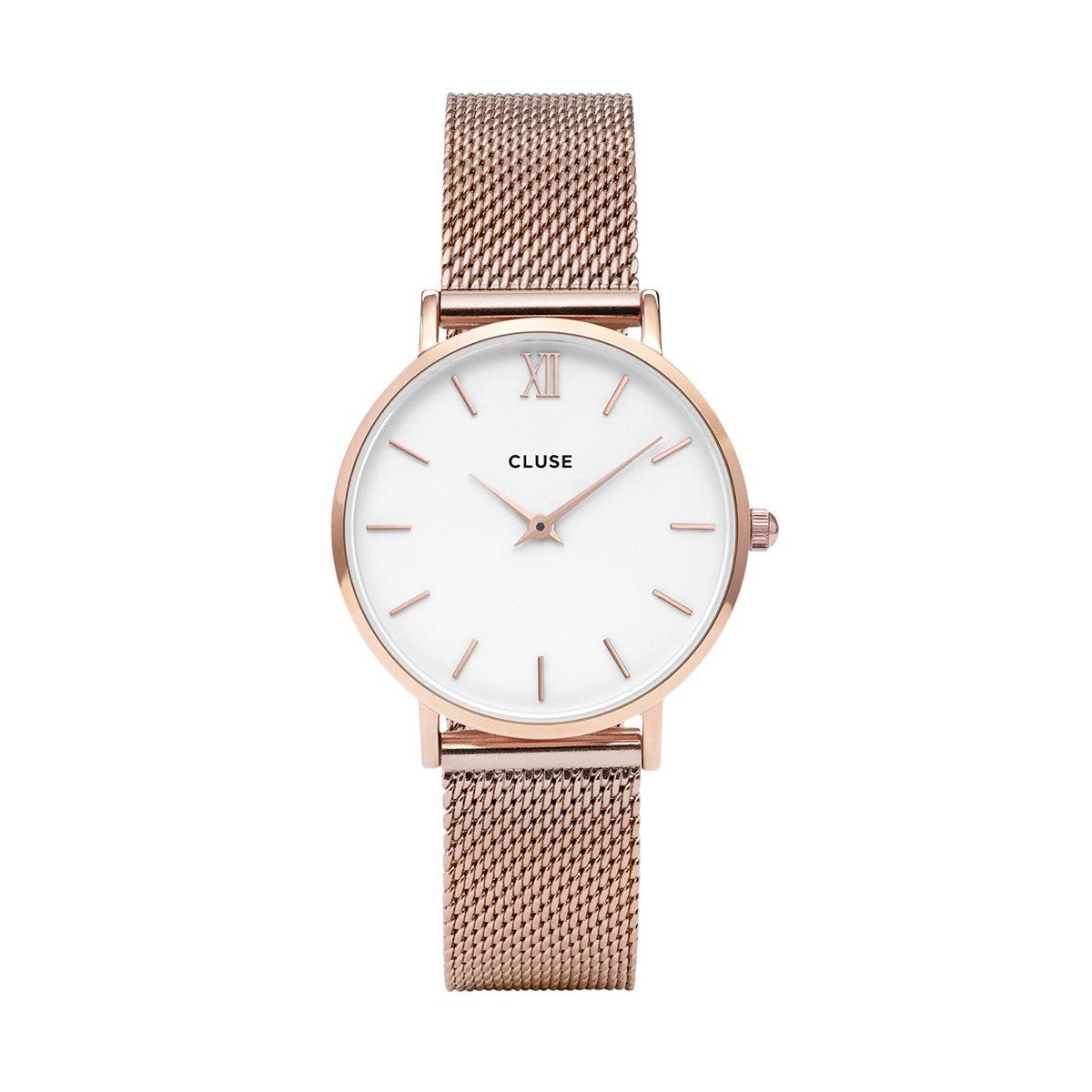 Růžové dámské hodinky - Minuit Mesh
