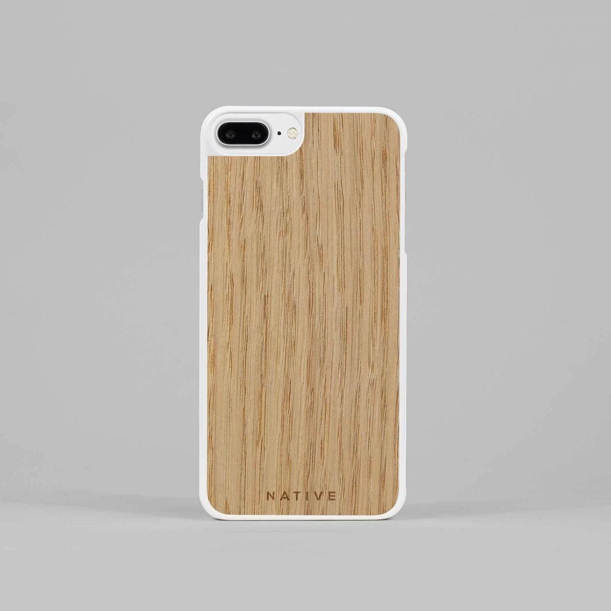 Bílý kryt na iPhone - Dub - 7 Plus