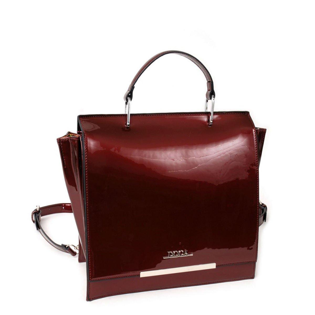 Červená lesklá kabelka - Minimal