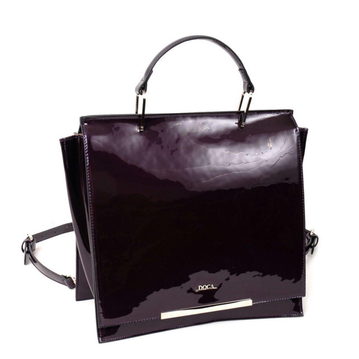 Černá lesklá kabelka DOCA - Minimal