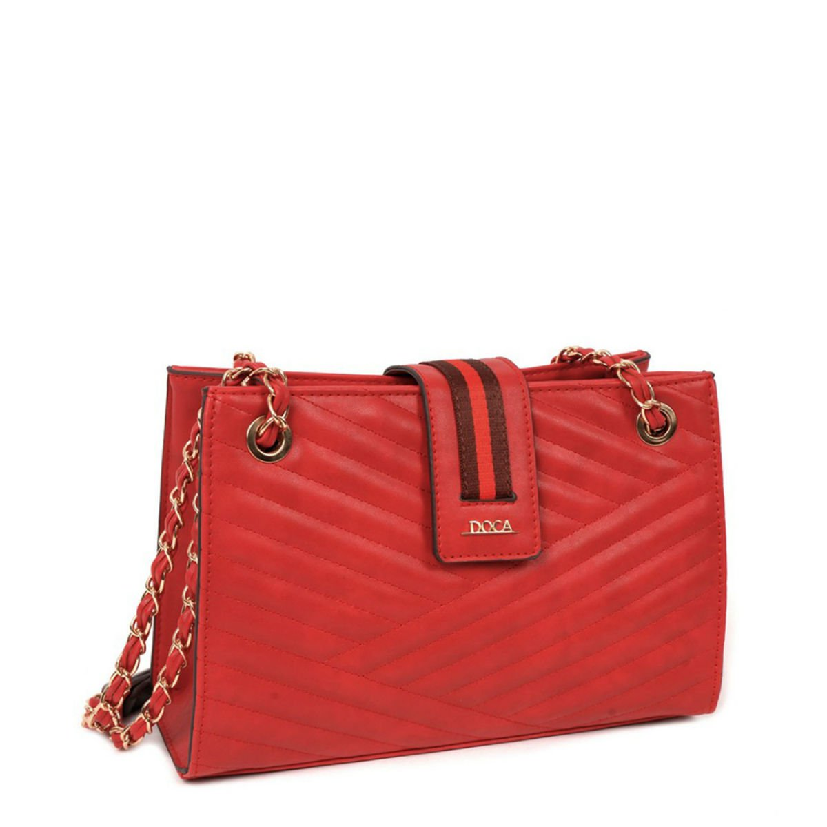 Červená kabelka DOCA - Glam