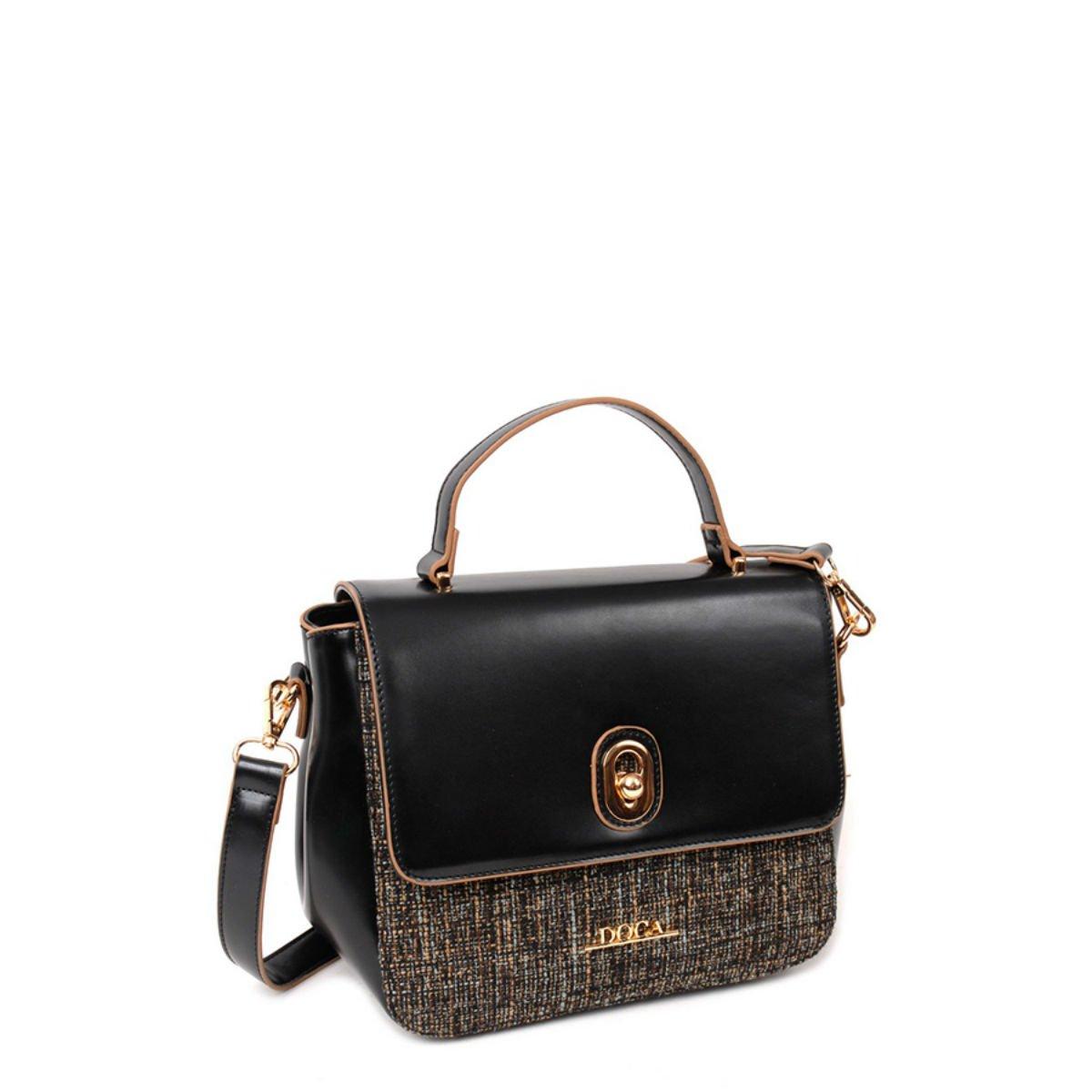 Černá lesklá kabelka DOCA - Glamour