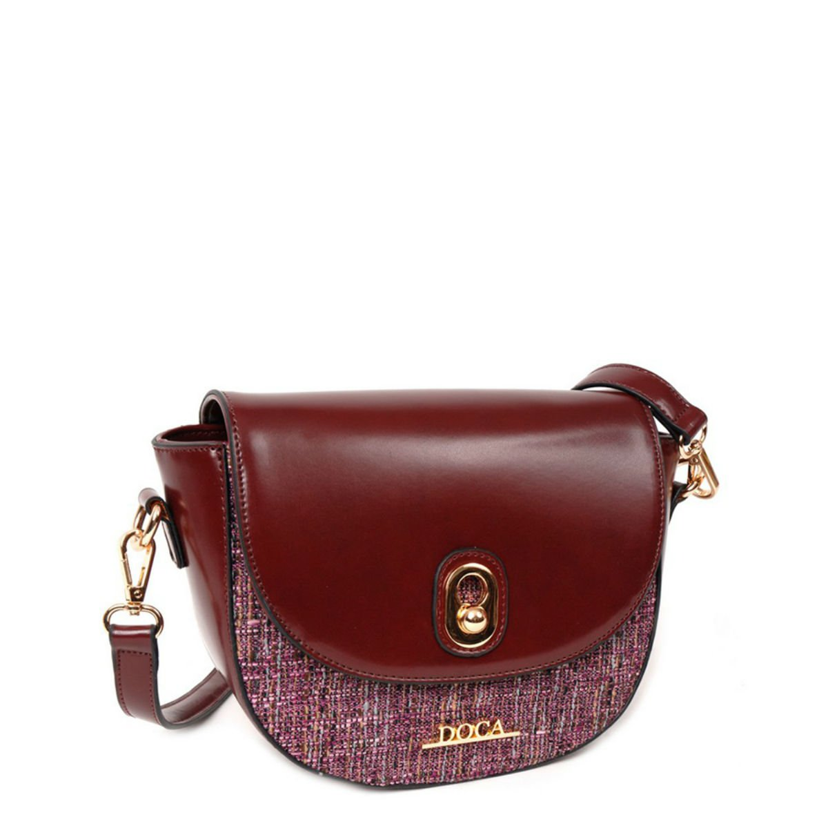 Červená lesklá kabelka DOCA - Glamour