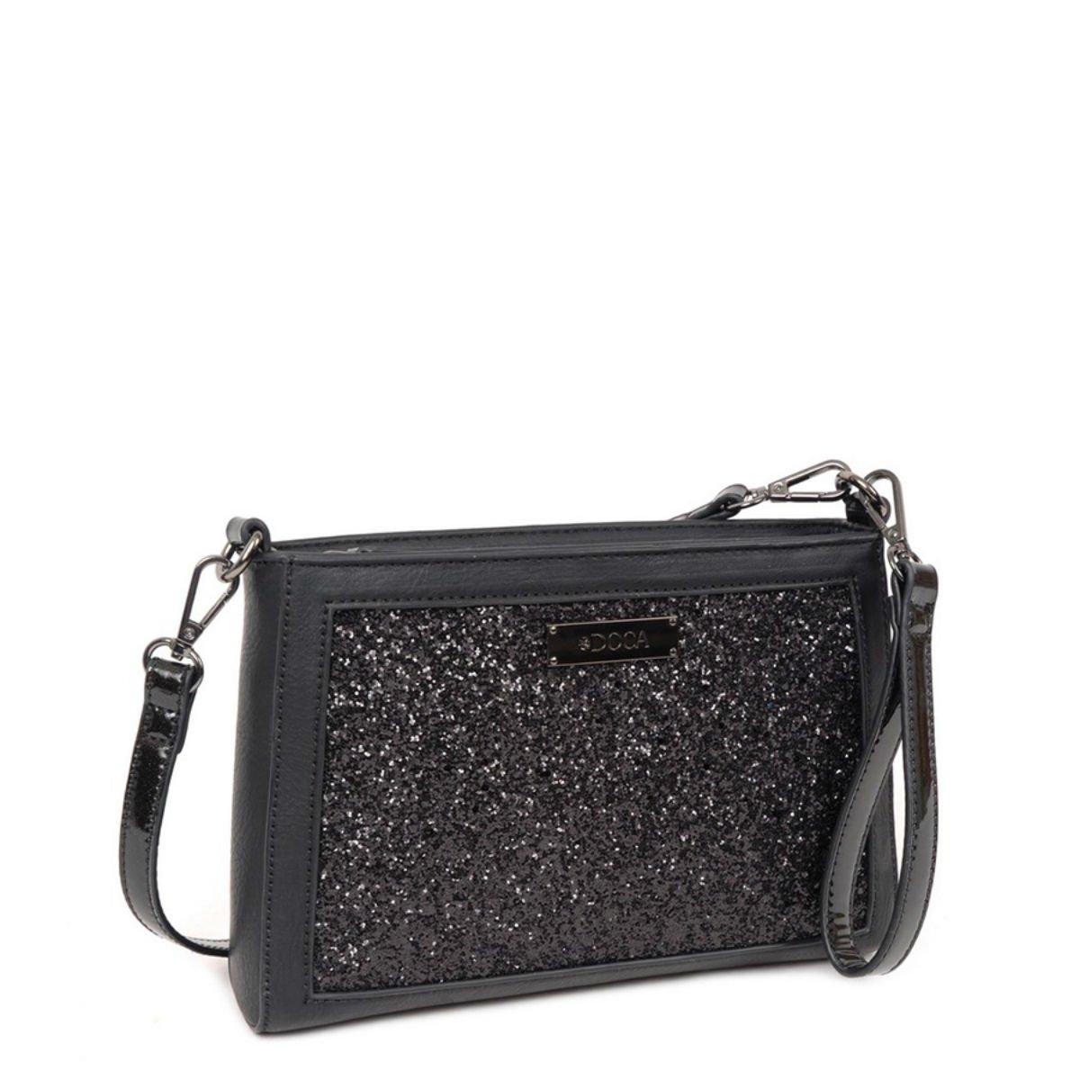 Černá kabelka DOCA - Glitter
