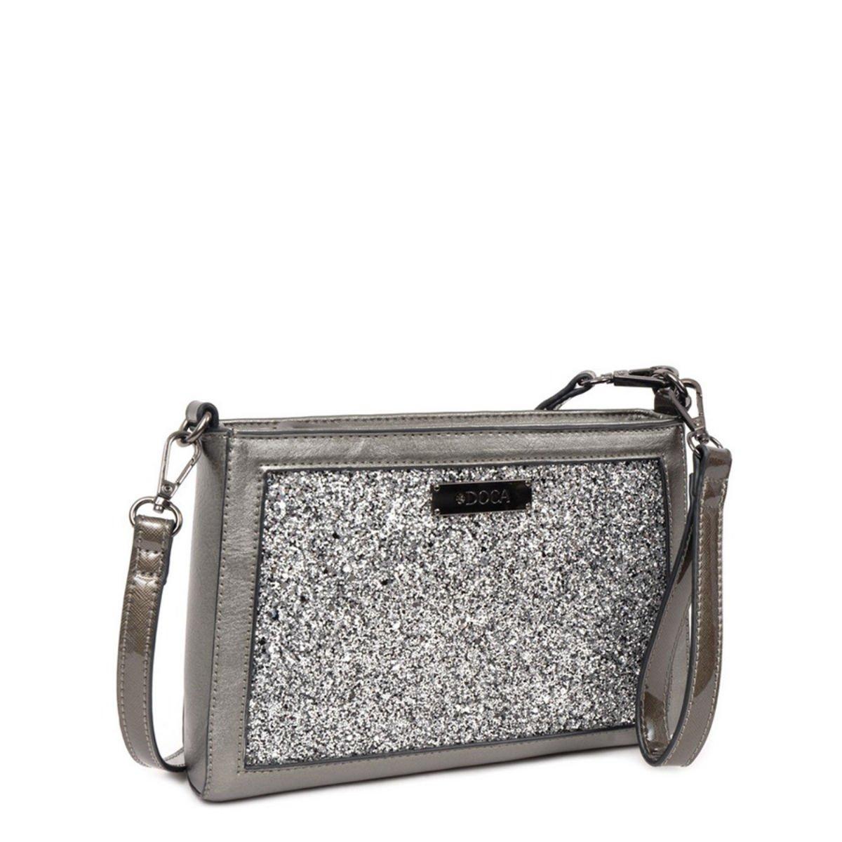 Šedá kabelka DOCA - Glitter