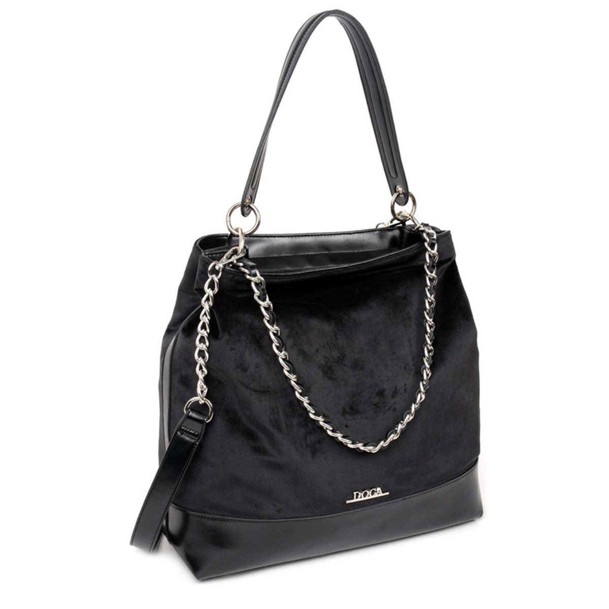 Černá kabelka DOCA - Velvet