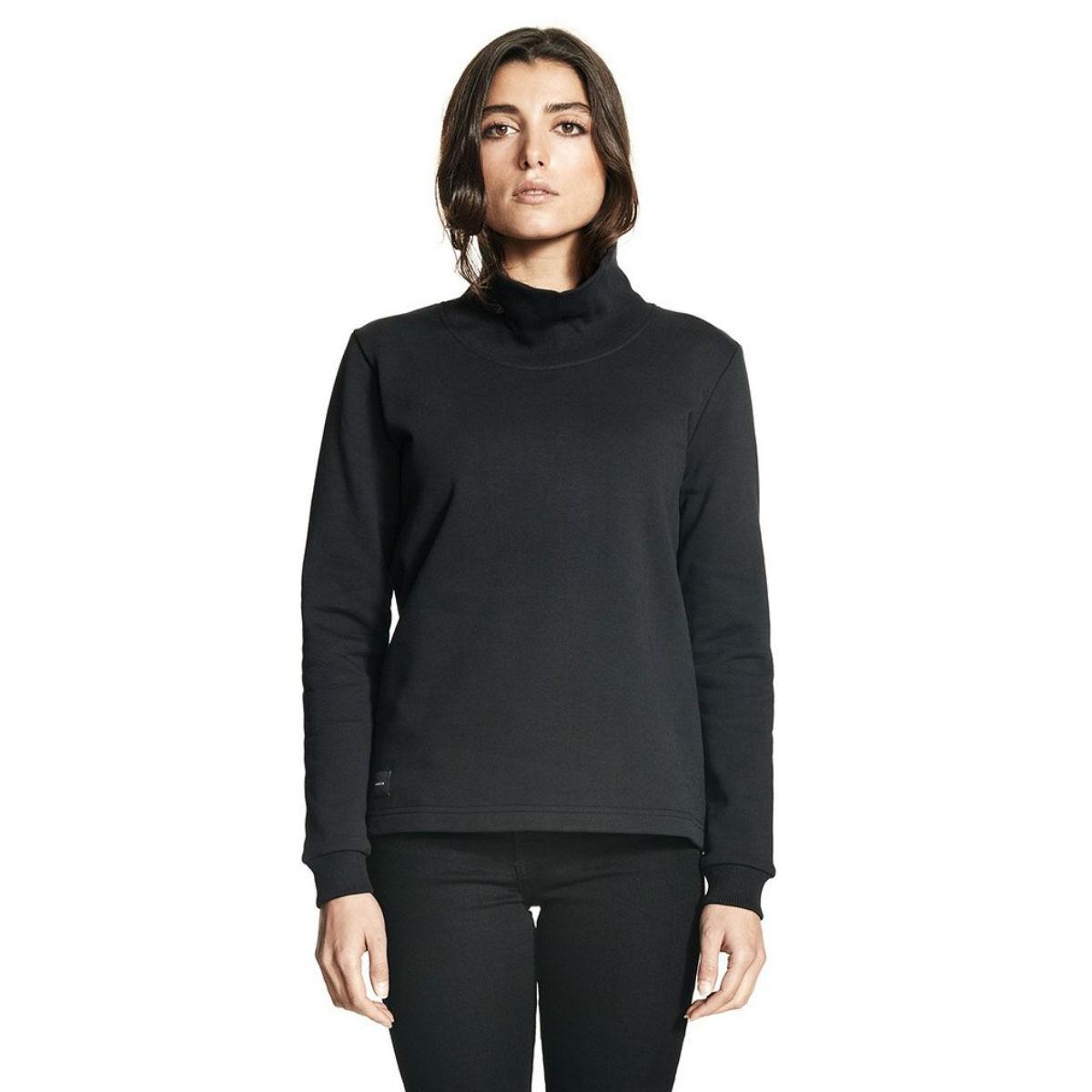 Černá mikina - Polo Sweatshirt - S