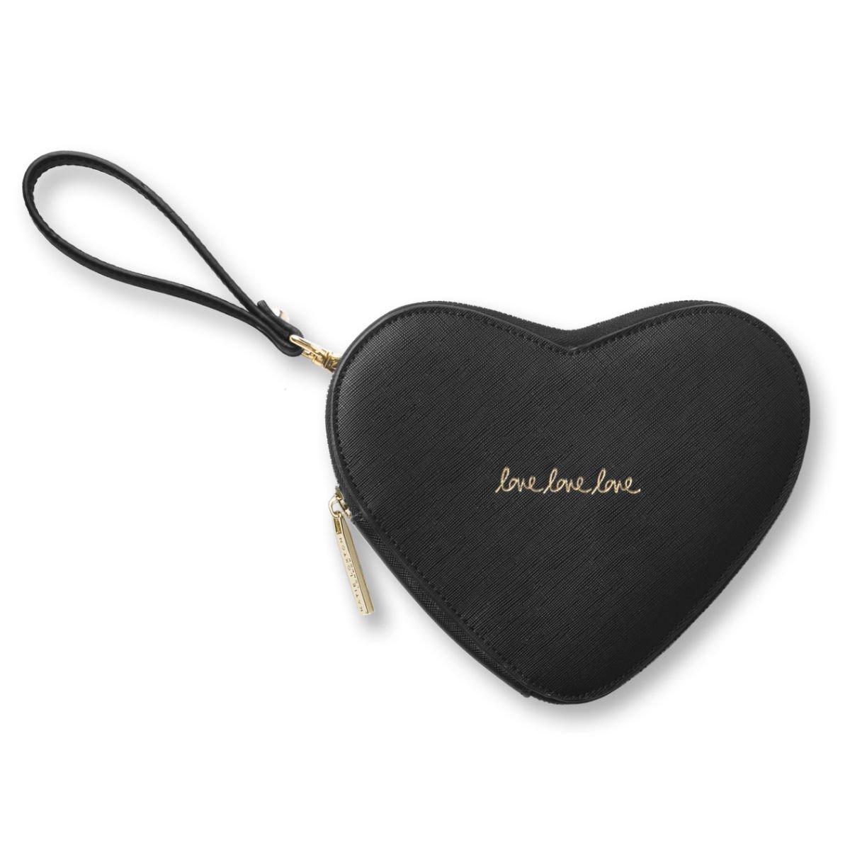 Černé psaníčko ve tvaru srdce – Love Heart