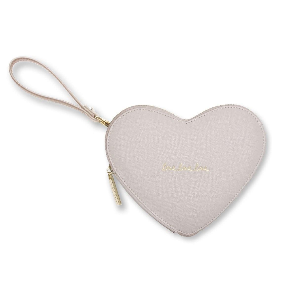 Béžové psaníčko ve tvaru srdce - Love Heart