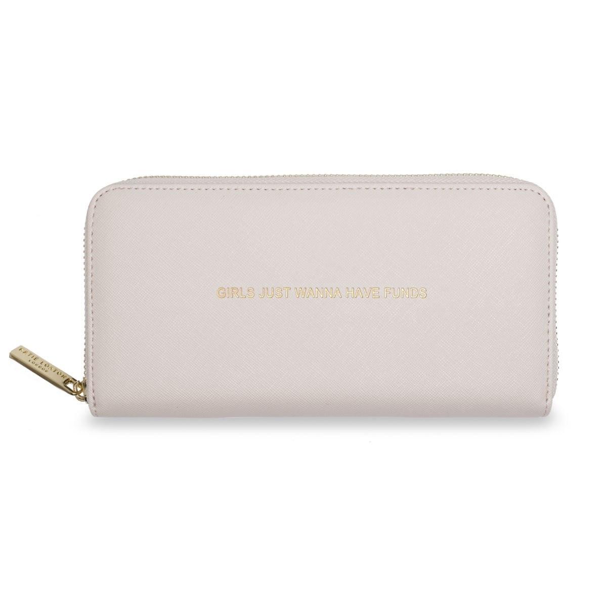 Světle růžová peněženka Katie Loxton - Girls Just Wanna Have Funds