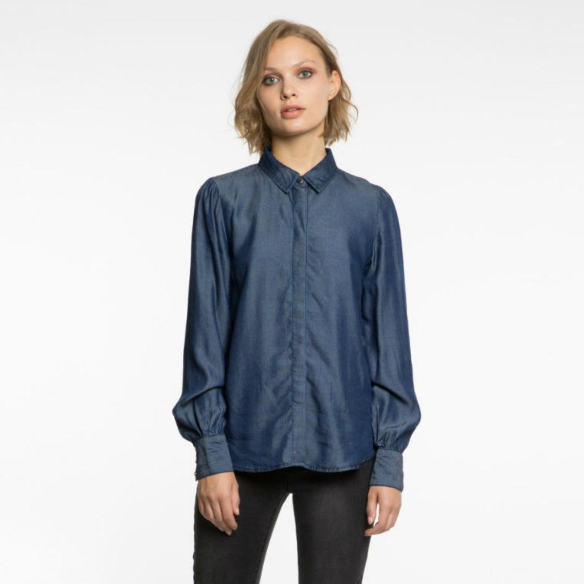 Tmave modrá džínová košile - Vialena - XS