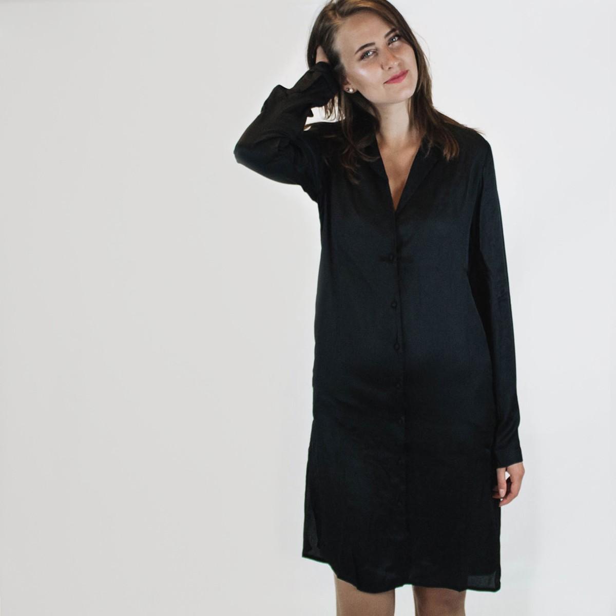 Černé košilové šaty – Vibalint – L 304549d3d1