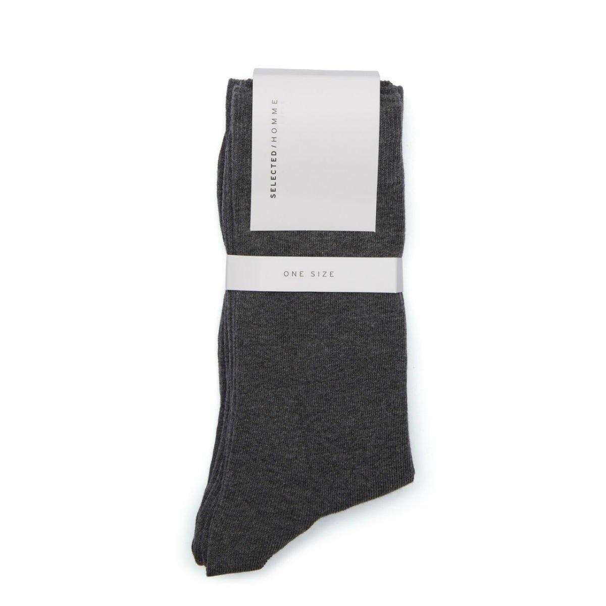 Šedé ponožky – 3 ks