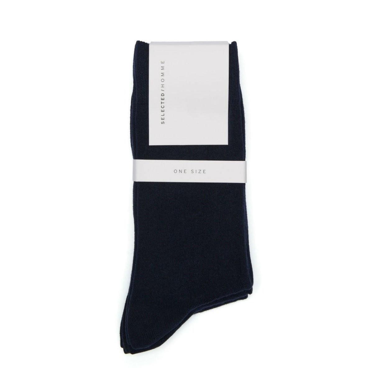Tmavě modré ponožky – 3 ks