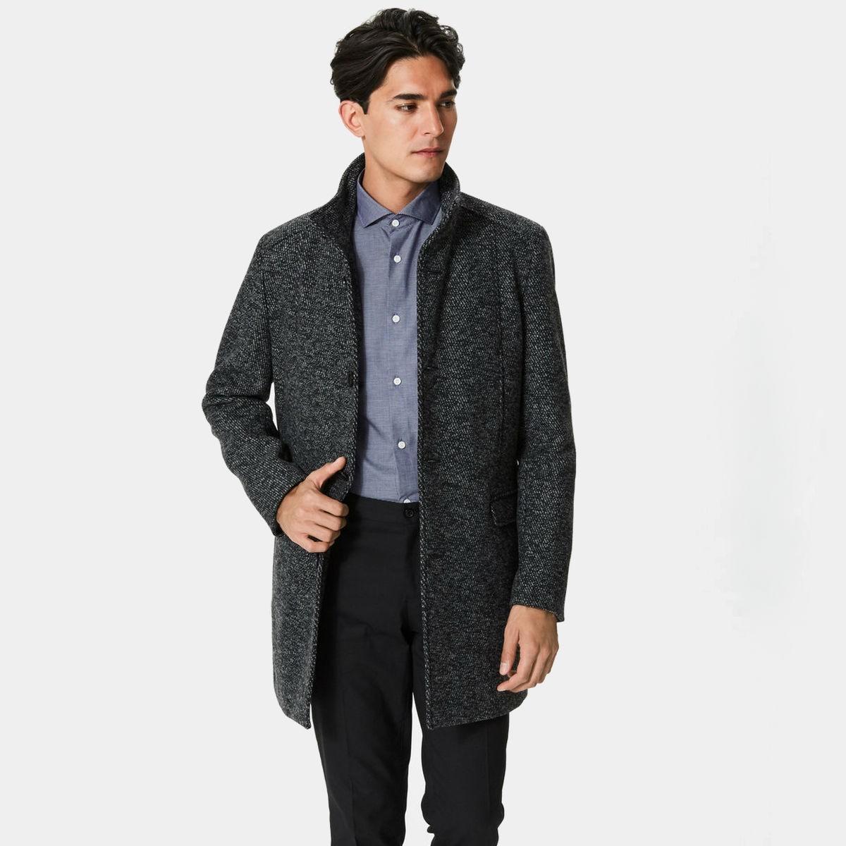 Černý kabát Selected Homme - S