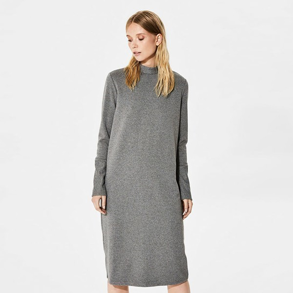63a4d0ca2567 Šedé pletené šaty s rolákem Sweat – XL