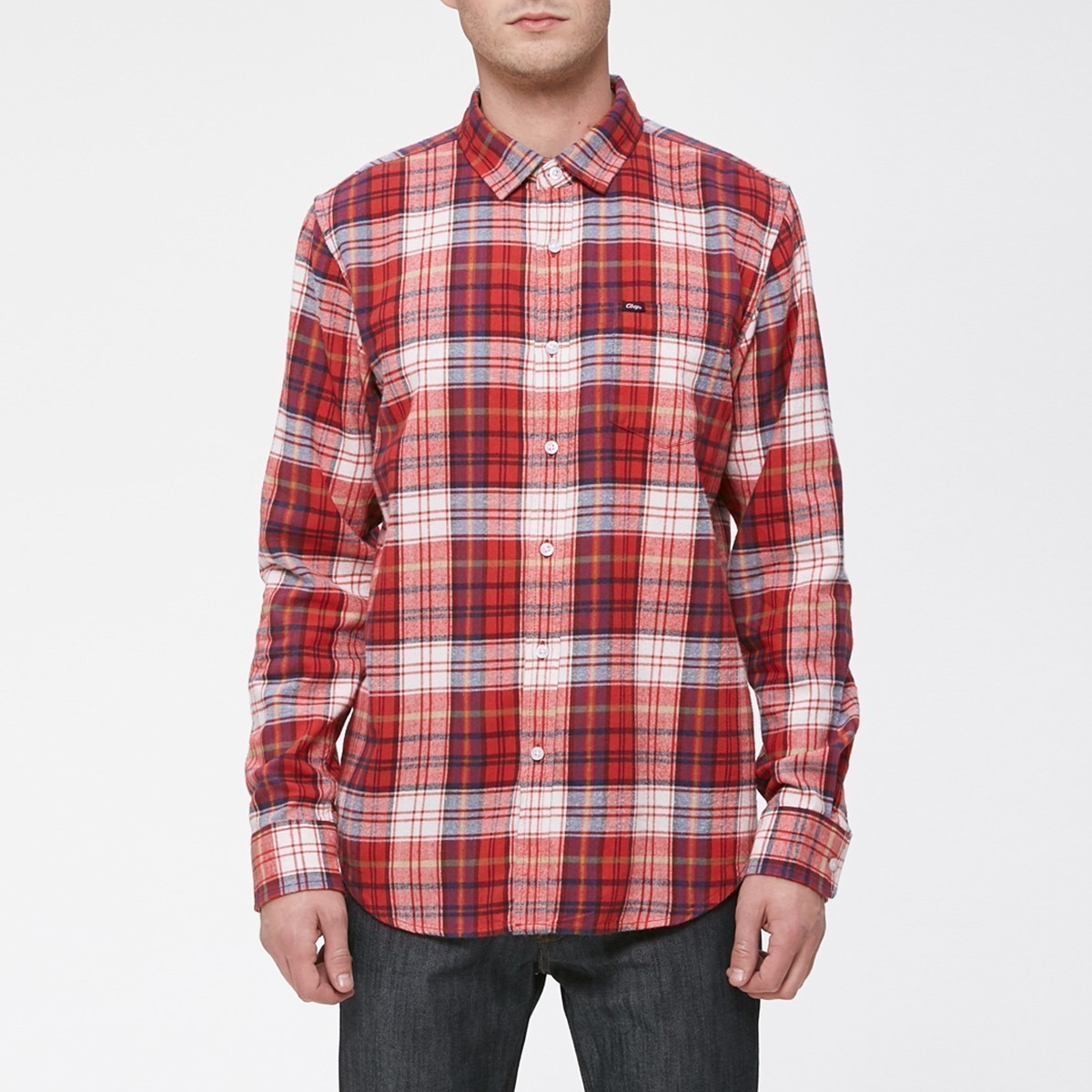 Červená kostkovaná košile - Aiden - L