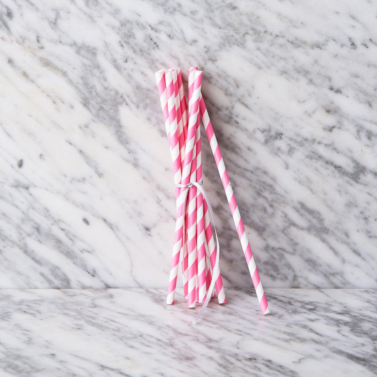 COSMO Papírová brčka 50 ks - růžová