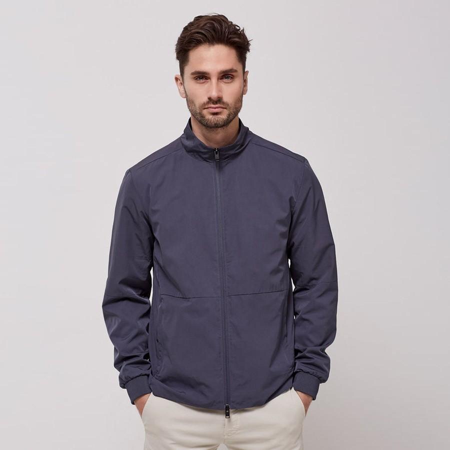 Modrá podzimní bunda S