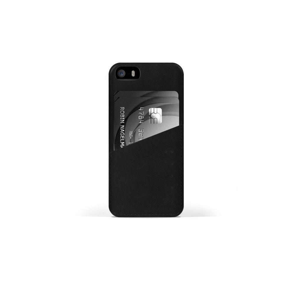 Černý kryt na iPhone 5s - Leather Wallet