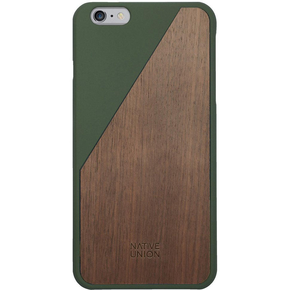 Kryt na iPhone 6 Plus – Clic Wooden Olive
