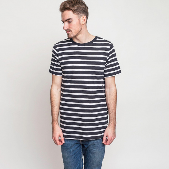 Triko Cope stripe white–black