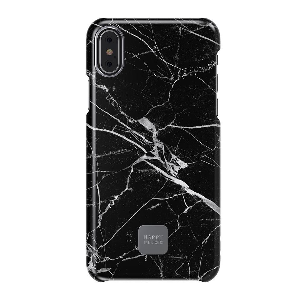 Ultratenký obal na iPhone 7/8 – černý mramor HAPPY PLUGS