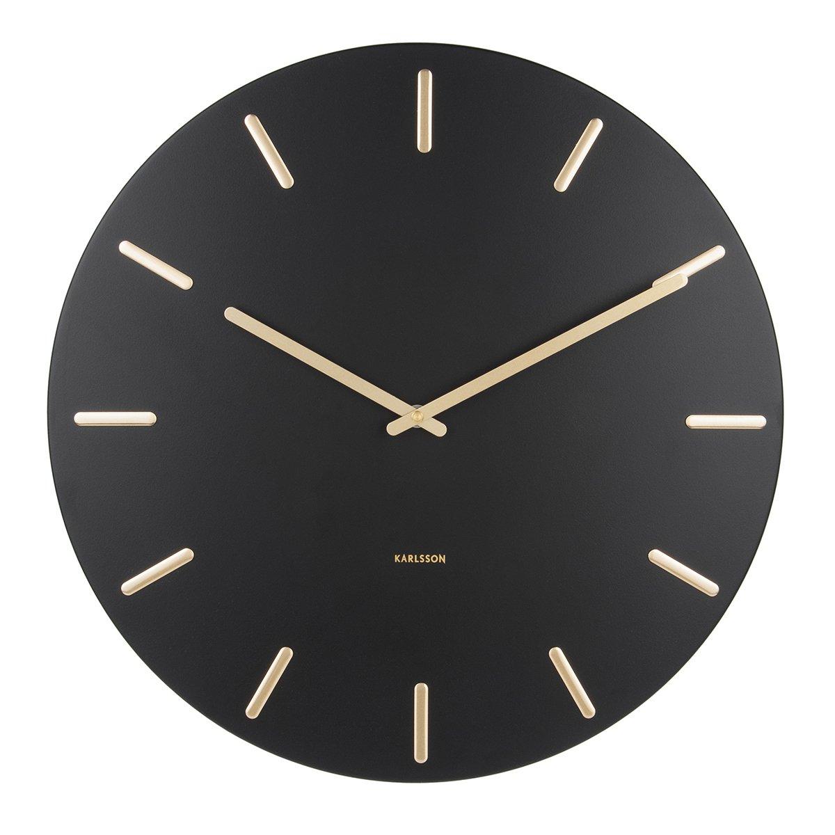 Nástěnné hodiny Charm – černé