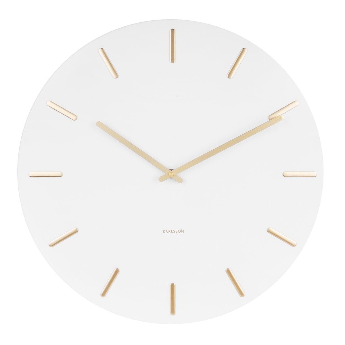 Nástěnné hodiny Charm – bílé