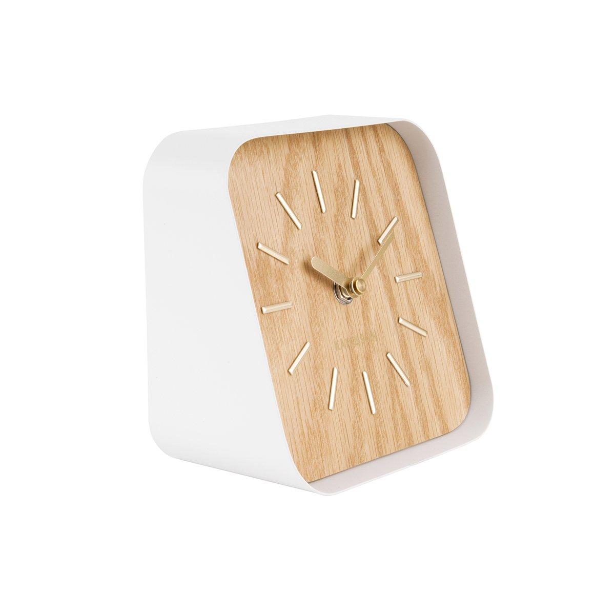 Stolní hodiny Squared – svetlé dřevo 76fe235d68