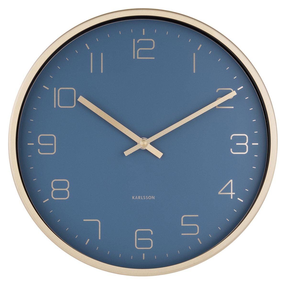 Nástěnné hodiny Gold Elegance – modré